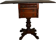 SOLD Empire Drop Leaf Work Table Acanthus Carved
