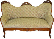 17457 Victorian Diminutive Sofa Pre-Civil War