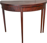 17466 Mahogany Demi Lune Card Table