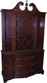 18264 Mahogany Breakfront China Cabinet by Bernhardt