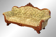 SOLD Antique Carved Burl Walnut Civil War Era Sofa