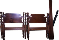 SOLD Pair of Period Country Acanthus Carved Twin Beds