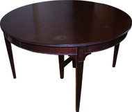 SOLD Round Mahogany Dining Table - 54 inch – 4 Leaves