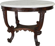 17483 Large Empire Victorian Marble Top Center Table