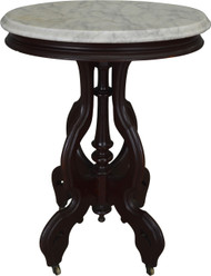 17484 Victorian Oval Marble Top Nightstand