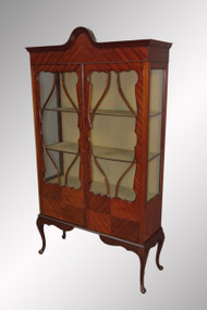 SOLD Antique Mahogany China Cabinet