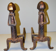 SOLD Pair of Mission Style Andirons