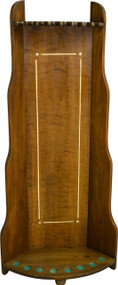 SOLD Mahogany Inlaid Deco Style Pool Table Cue Rack