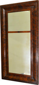 17553 Period Empire Flame Mahogany Wall Mirror-Pre Civil War