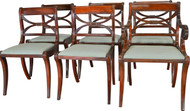 SOLD Set of 6 Empire Style Mahogany Chairs by Drexel