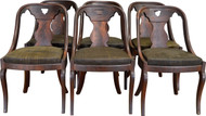 SOLD Set of 6 Period Pre-Civil War Empire Dining Chairs