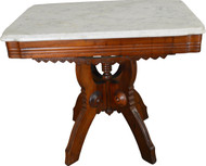SOLD Marble Top Victorian Coffee Table