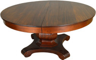SOLD Mahogany Empire Round Banquet Table Opens 12 Feet
