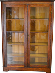 SOLD Oak Larkin Two Door Victorian Bookcase
