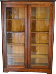 SOLD Oak Larkin Two Door Victorian Bookcase
