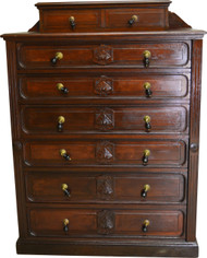 SOLD Victorian Burl Walnut Lock Side Gentleman's Chest