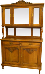 17566 Oak Curio Top China Buffet