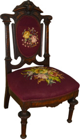 SOLD Victorian Needlepoint Ladies Slipper Chair