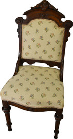 SOLD Carved Burl Walnut Victorian Ladies Desk Chair