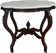 SOLD Victorian Marble Top Turtle Top Table