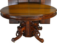 SOLD Victorian Burl Walnut Banquet Dining Table Opens 16 FEET long!!!