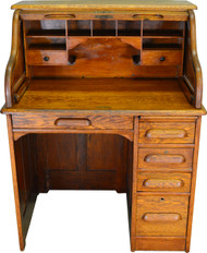 SOLD Victorian Oak Roll Top Desk – Ladies Desk