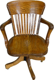 SOLD Refinished Victorian Oak Lawyers Banker Office Chair