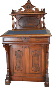SOLD Victorian Burl Walnut Davenport Shipmaster's Desk – Civil War Era