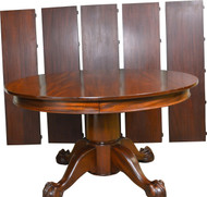 "SOLD Custom Mahogany 54"" Bench Made Banquet Victorian Dining Table"