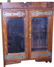 SOLD Oak Bevel Glass Medicine Cabinet