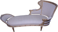 18292 French Gold Decorated Chaise Lounge
