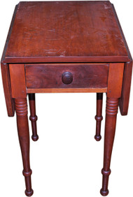 18277 Sheraton Country Period Drop Leaf Work Table with Drawer