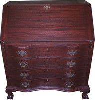 SOLD Antique Mahogany Governor Winthrop Desk by Maddox