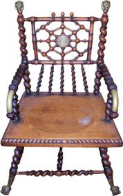 SOLD Merklen Mahogany Barley Twist Arm Chair