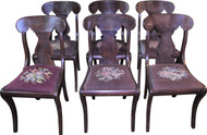 18288 Set of 6 Empire Style Dining Chairs