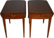 SOLD Pair of Mahogany Pembroke Stands by Hickory Chair Company