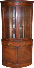 SOLD Mahogany Duncan Phyfe Corner China Cabinet by Drexel