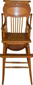 17620 Oak Press Back Children's High Chair