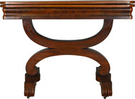 17637 Empire  Flame Mahogany Game Table Civil War Era
