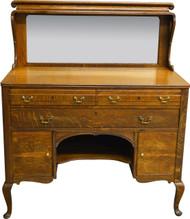 17640 Oak Mirrored Sideboard Server Art Nouveau Style