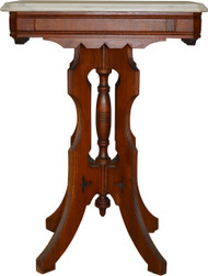 17641 Victorian Marble Top End Table