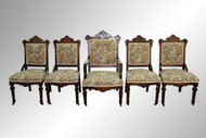 SOLD Antique Victorian Burl Walnut Parlor Suite