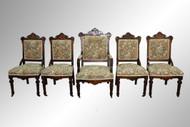 SOLD Antique Victorian Burl Walnut Parlor Suite
