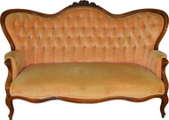 SOLD Victorian Rose Carved Civil War Era Sofa