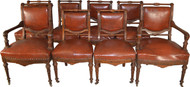 17601 Rare Victorian Set of 8 Burl Walnut Dining Chairs – Twin Arms