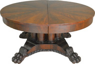 17463 Period Empire Claw Foot Banquet Table – 12 Feet