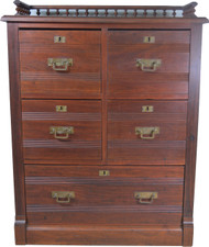 SOLD Unusual Victorian File Cabinet Miniature Chest – Must See