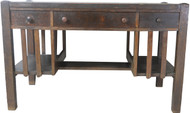 17558 Mission Oak Flat Top Desk with Bookcases