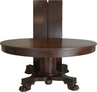 "SOLD Mahogany Empire Claw Foot 60"" Banquet Table – 10 Feet"