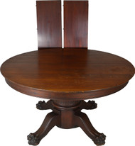 SOLD Victorian Mahogany Claw Foot Banquet Table-Opens 12 FEET!!
